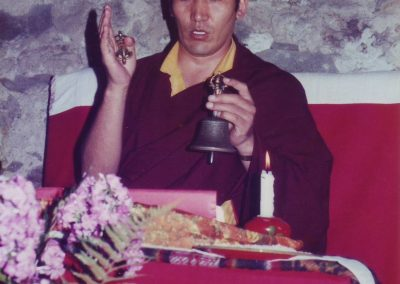 Milarepa Puja mit Ajang Rinpoche August 1982
