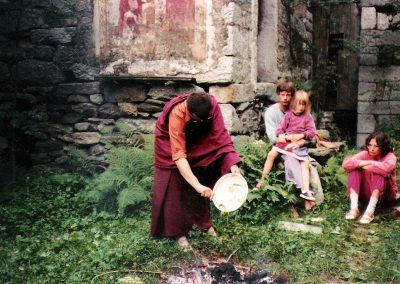 Lama Tönsang July 1982 auf der Piazza!