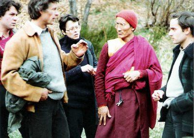 Lama Djangchub, Margaritha, Felice, Gerard auf Piazzana