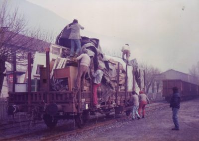Holz Transport Basel-Villadossola-Bordo Januar 1983