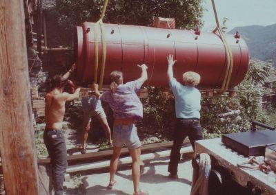 Wassertank von Solaranlage