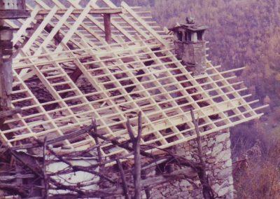 Dach vom Gästehaus im Bau 1983