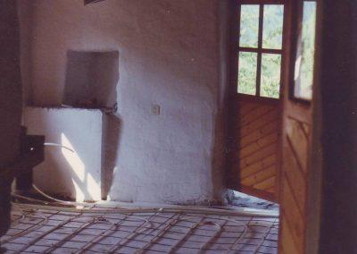 Baumonat 1989 Bodenheizung Gästehausküche