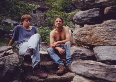 Baumonat 1997 Thomas und Andreas