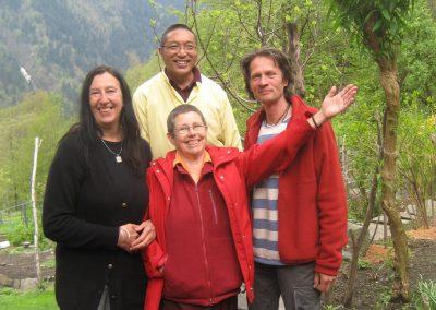 Threor Lama, Lama Irene, Bhakti und Daniel 2009