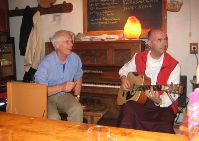 Lama Luigi und Gerard am Chenresigretreat 2009
